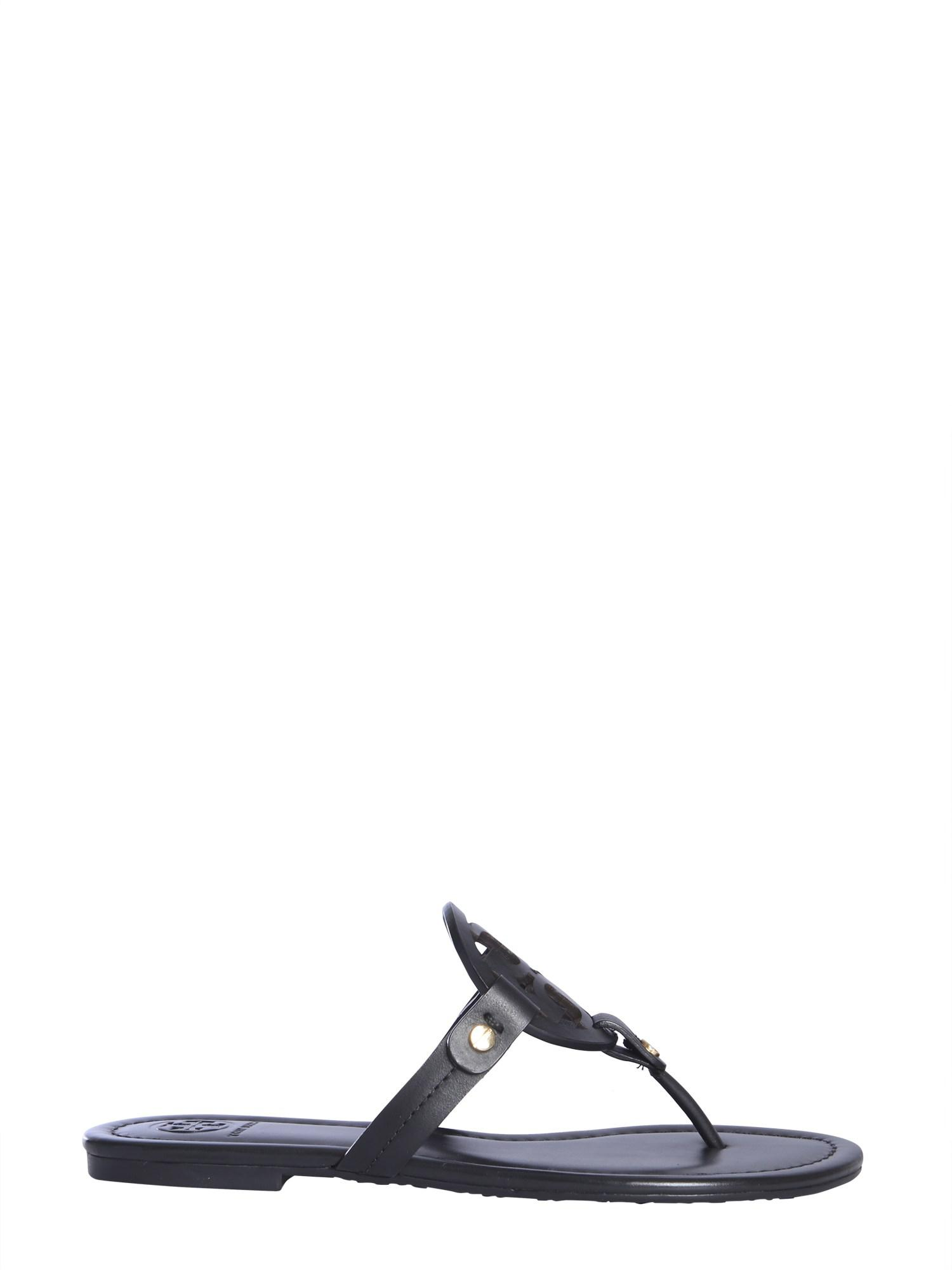 566def19b792b Lyst - Tory Burch Miller Infradito In Pelle in Black