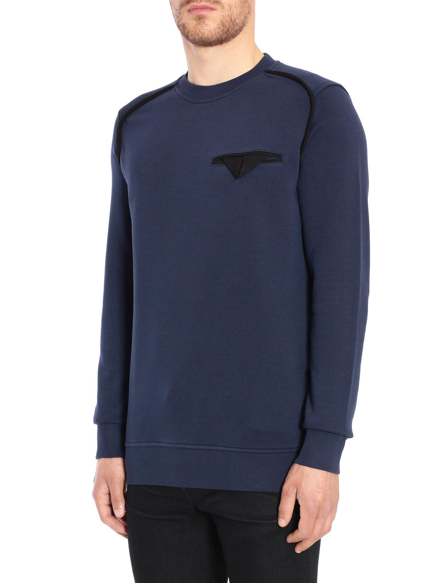 4144461d57f Lyst - Diesel Black Gold Spixa Cotton Sweatshirt in Blue for Men