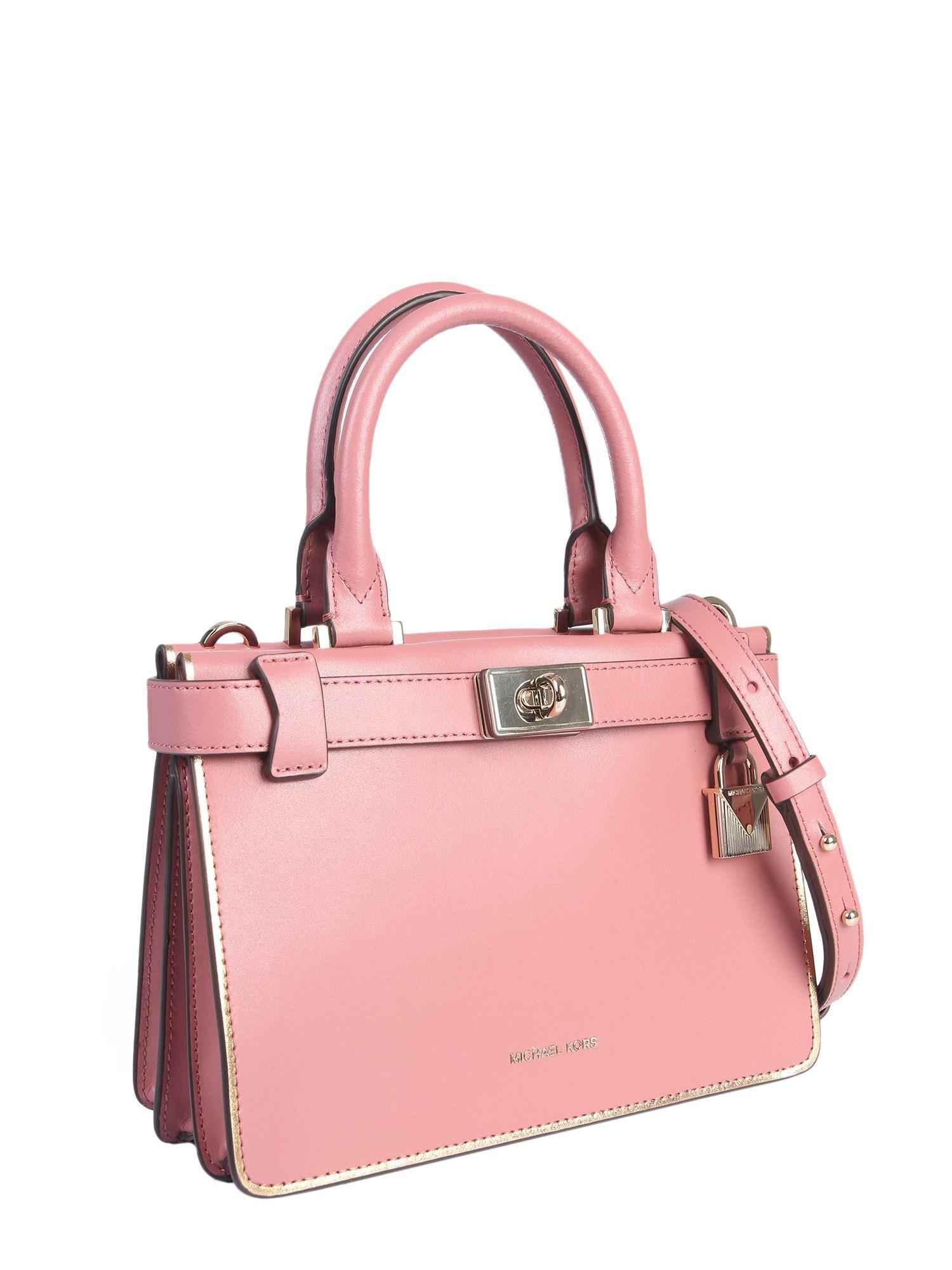 e21cfab0cb153b MICHAEL Michael Kors Mini Tatiana Leather Handbag in Pink - Lyst