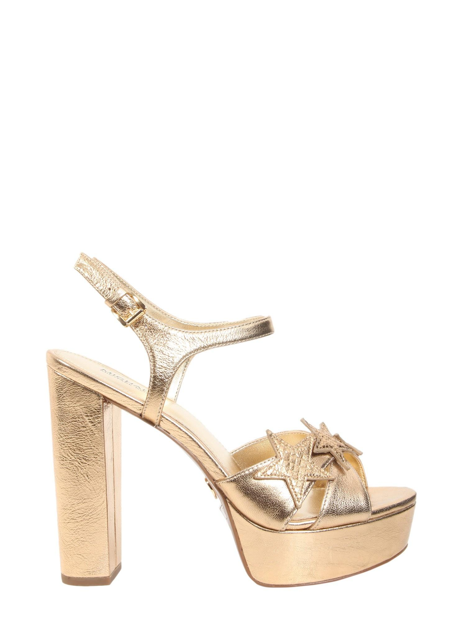 76d34bca0c2c MICHAEL Michael Kors Lexie Platform Sandals In Metallic Leather in ...
