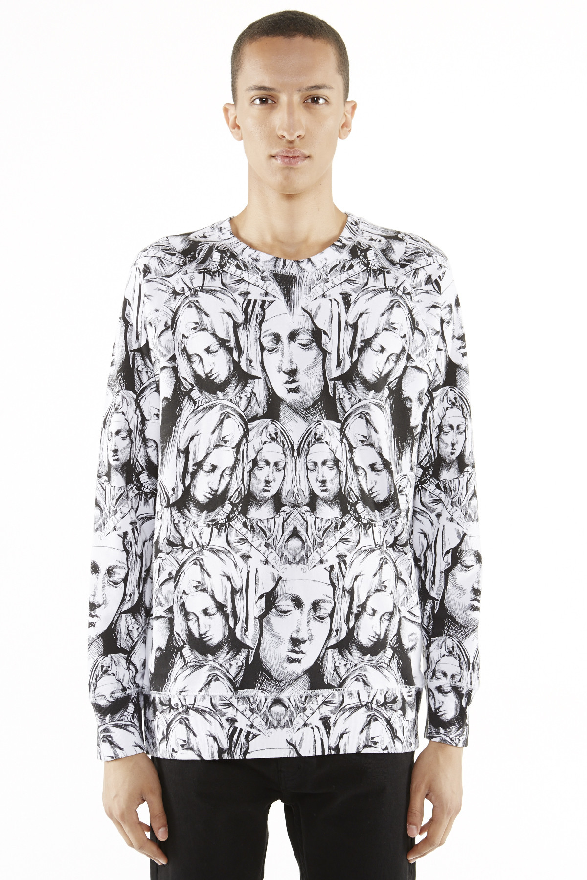 eleven paris west 77 church print sweatshirt in multicolor for men olrierge print lyst. Black Bedroom Furniture Sets. Home Design Ideas