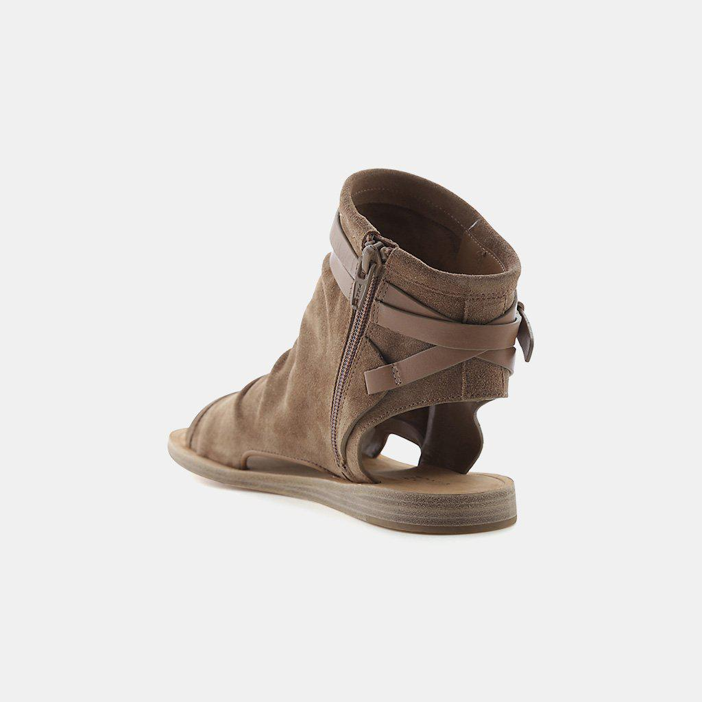 8363fbefe9ef Lyst - Vince Thalia Slouchy Suede Cutout Flat Sandal in Brown