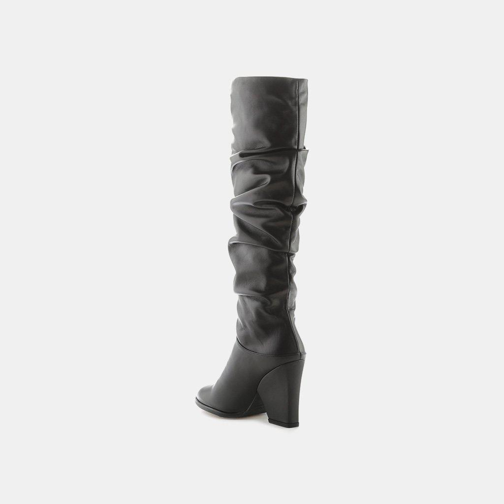 dbe9c08caf0 Stuart Weitzman Black Smashing Slouch Boot In Nappa Leather