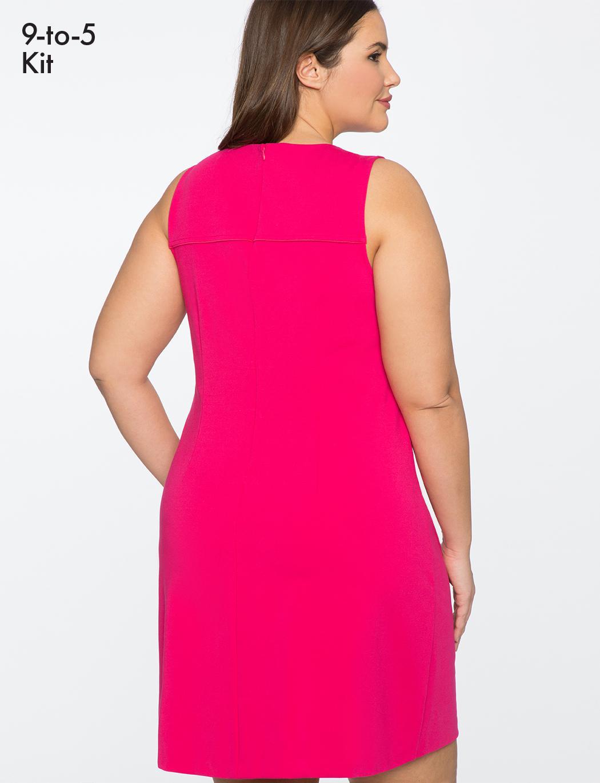 399c98396b916 Lyst - Eloquii 9-to-5 Sleeveless Stretch Work Dress in Pink