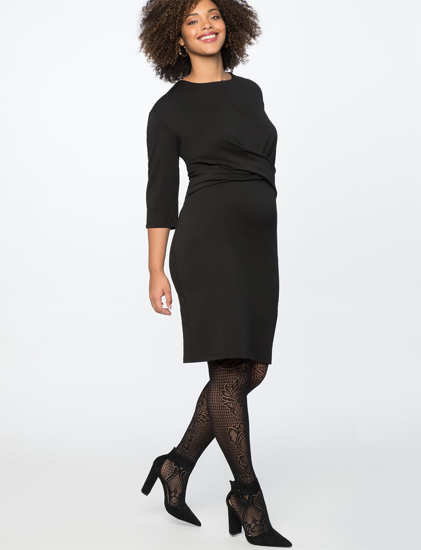 62b4bcd17e133b Lyst - Eloquii Cross Front Dress in Black