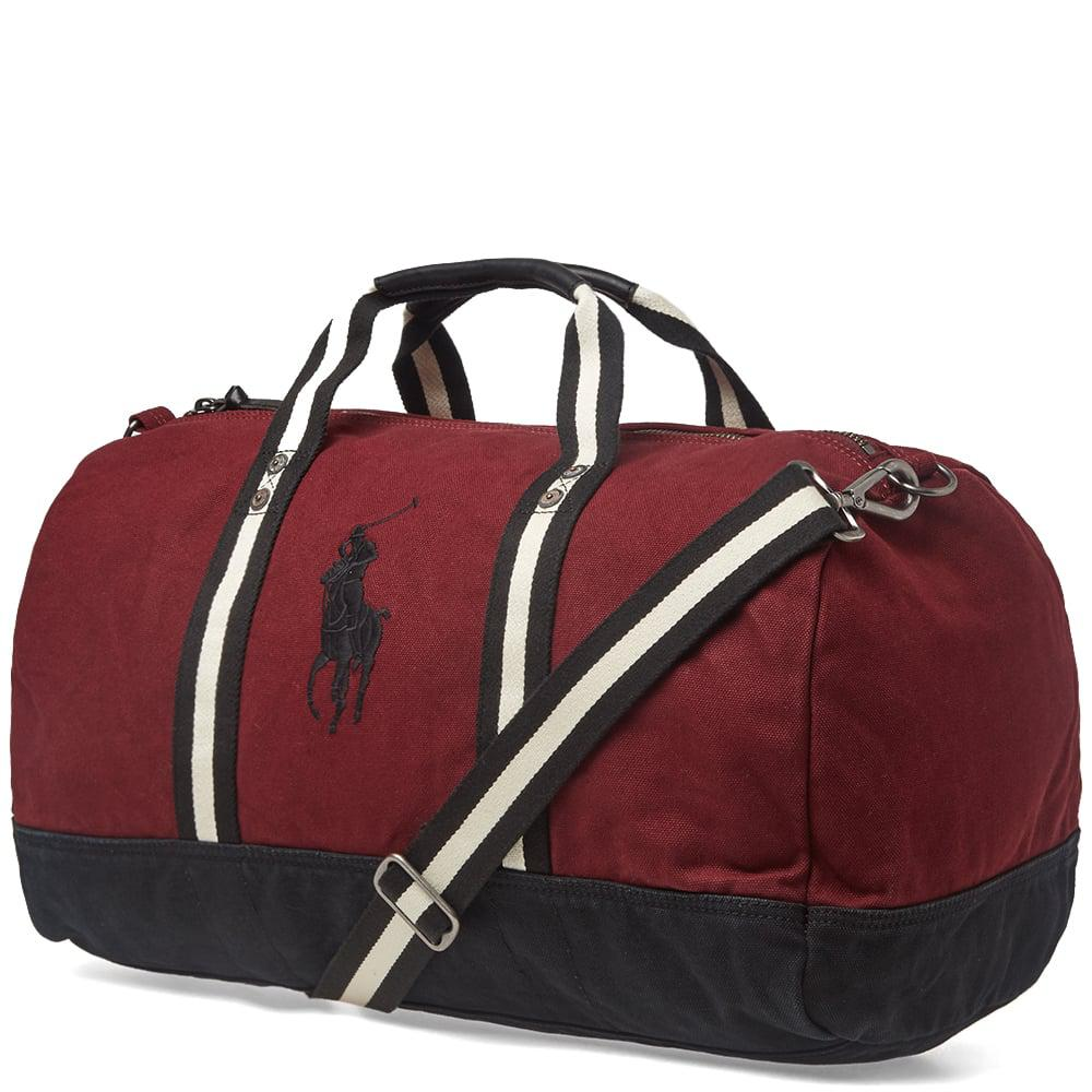 7d3f0d8d8daa Polo Ralph Lauren - Red Canvas Polo Player Logo Duffle Bag for Men - Lyst.  View fullscreen