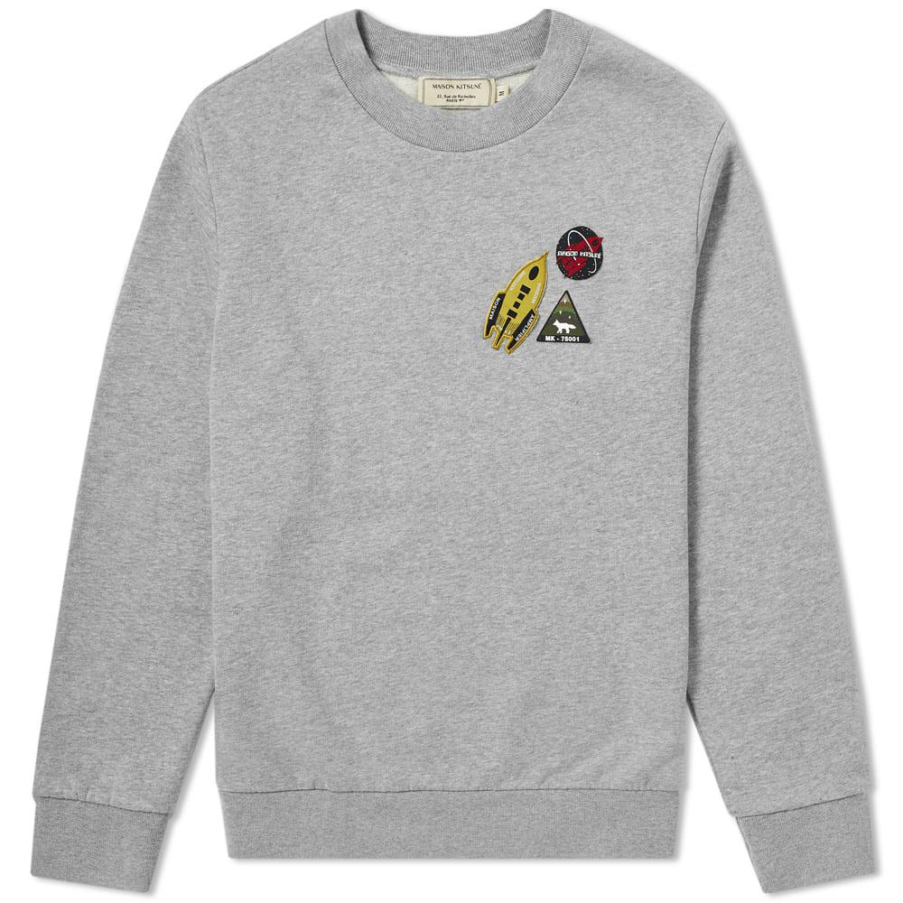 d481f11e59d7 Lyst - Maison Kitsuné Maison Kitsuné Astronaut Patch Sweat in Gray ...