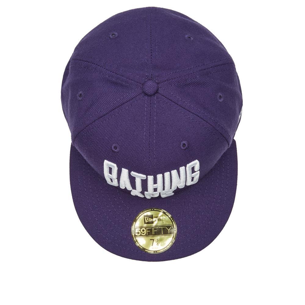 Lyst - A Bathing Ape New Era Nyc Logo Cap in Purple for Men 5ea95cb52373