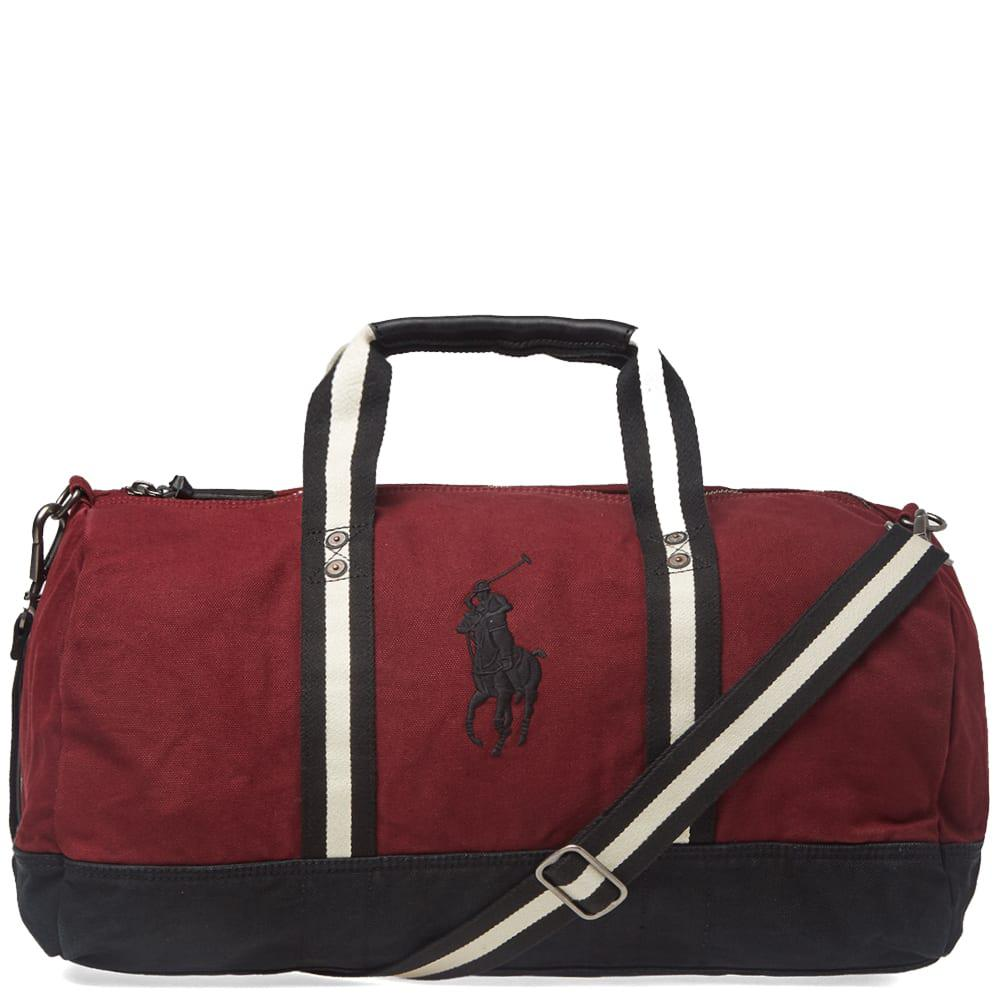 4f212bfa44 Lyst - Polo Ralph Lauren Canvas Polo Player Logo Duffle Bag in Red ...