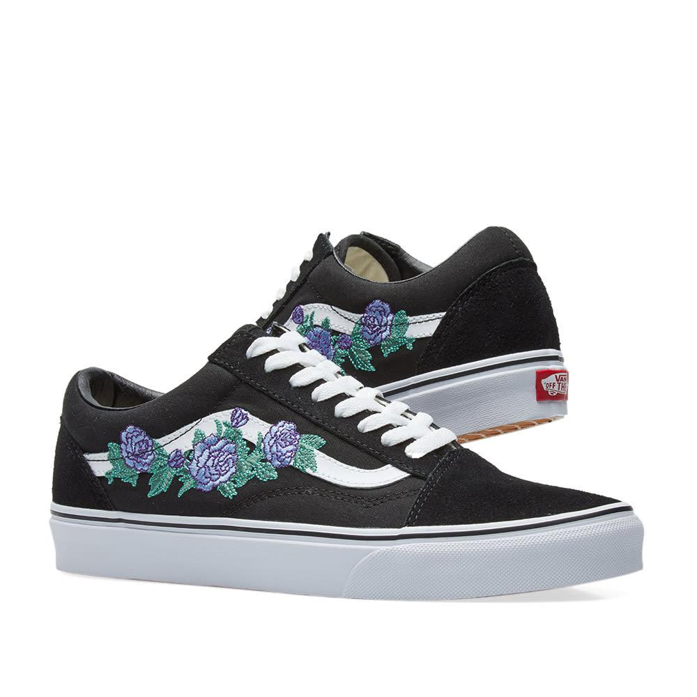 Vans Canvas Old Skool Sneakers In Black Lyst