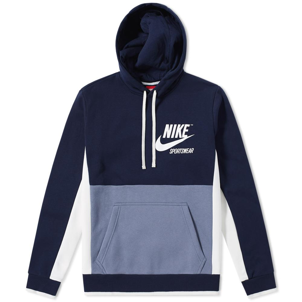 1c5f90c68c19 Lyst - Nike Archive Pullover Hoody in Blue for Men