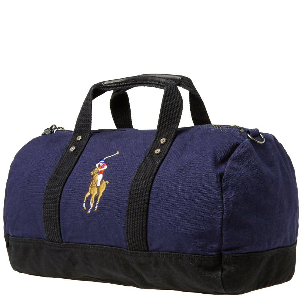 c78d0e8faee5 Polo Ralph Lauren - Blue Polo Player Canvas Duffle Bag for Men - Lyst. View  fullscreen