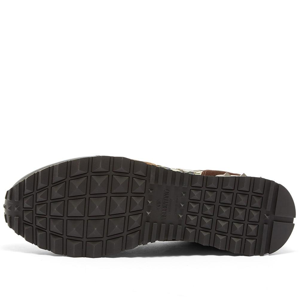 343b22ed157b0d Valentino - Green Star Camo Rockrunner Sneaker for Men - Lyst. View  fullscreen