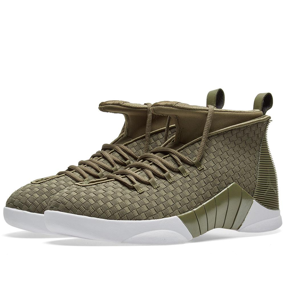 71bd4b478c7 Nike Nike Jordan X Psny Air 15 Retro Woven in Green for Men