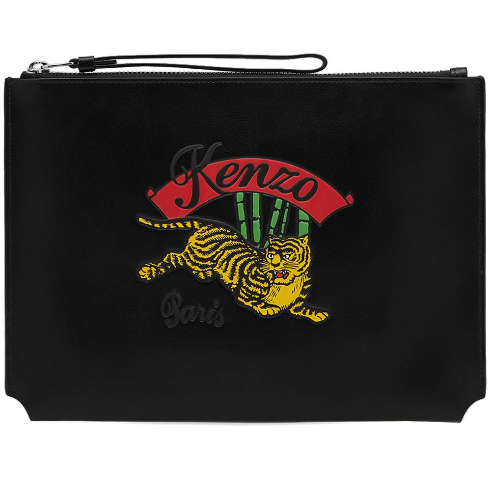 3155ab9e53d Kenzo Jumping Tiger Pouch in Black for Men - Lyst