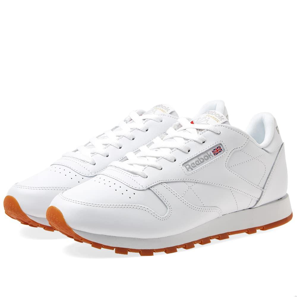 21da014ce95 Reebok Women s Classic Leather in White - Save 49% - Lyst