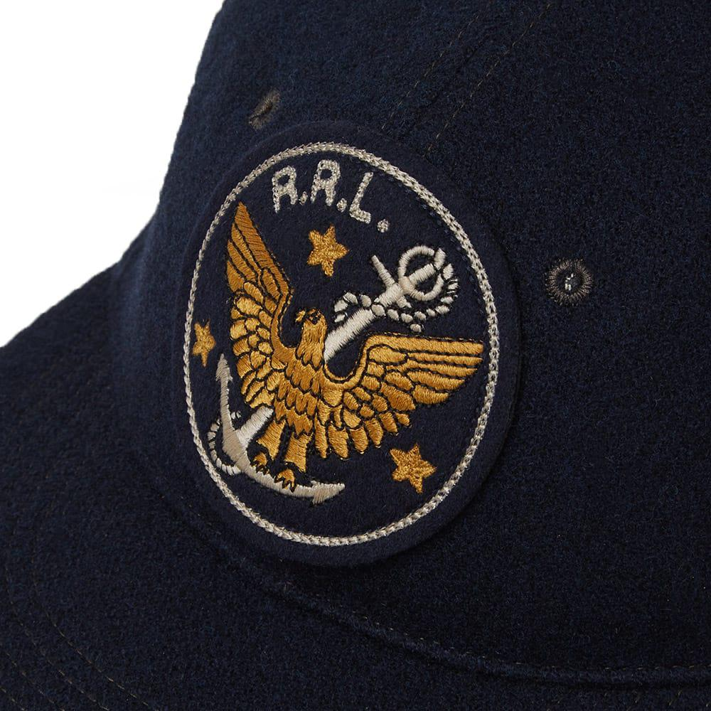 eac342f70a190 RRL - Blue Logo-embroidered Wool-blend Baseball Cap for Men - Lyst. View  fullscreen
