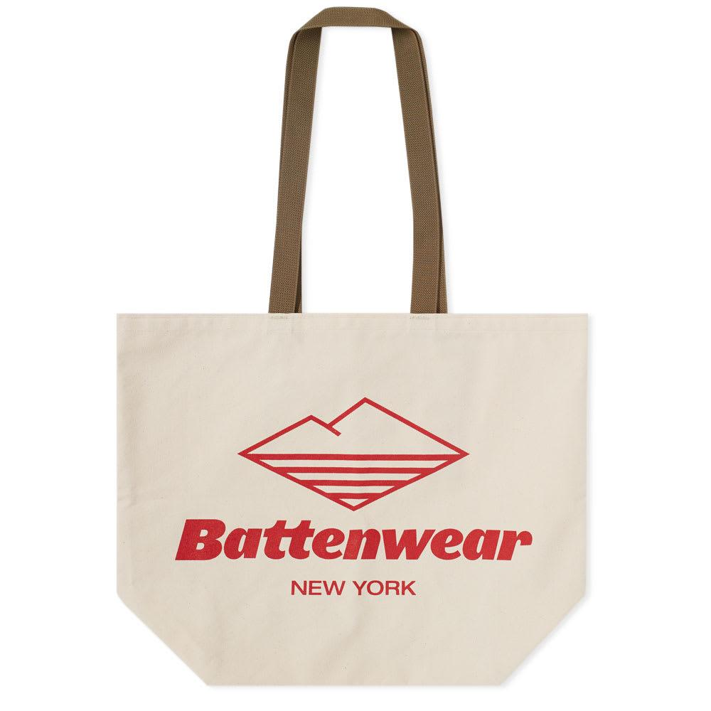 34eb47b298cefb Battenwear Logo Print Canvas Tote Bag - Lyst