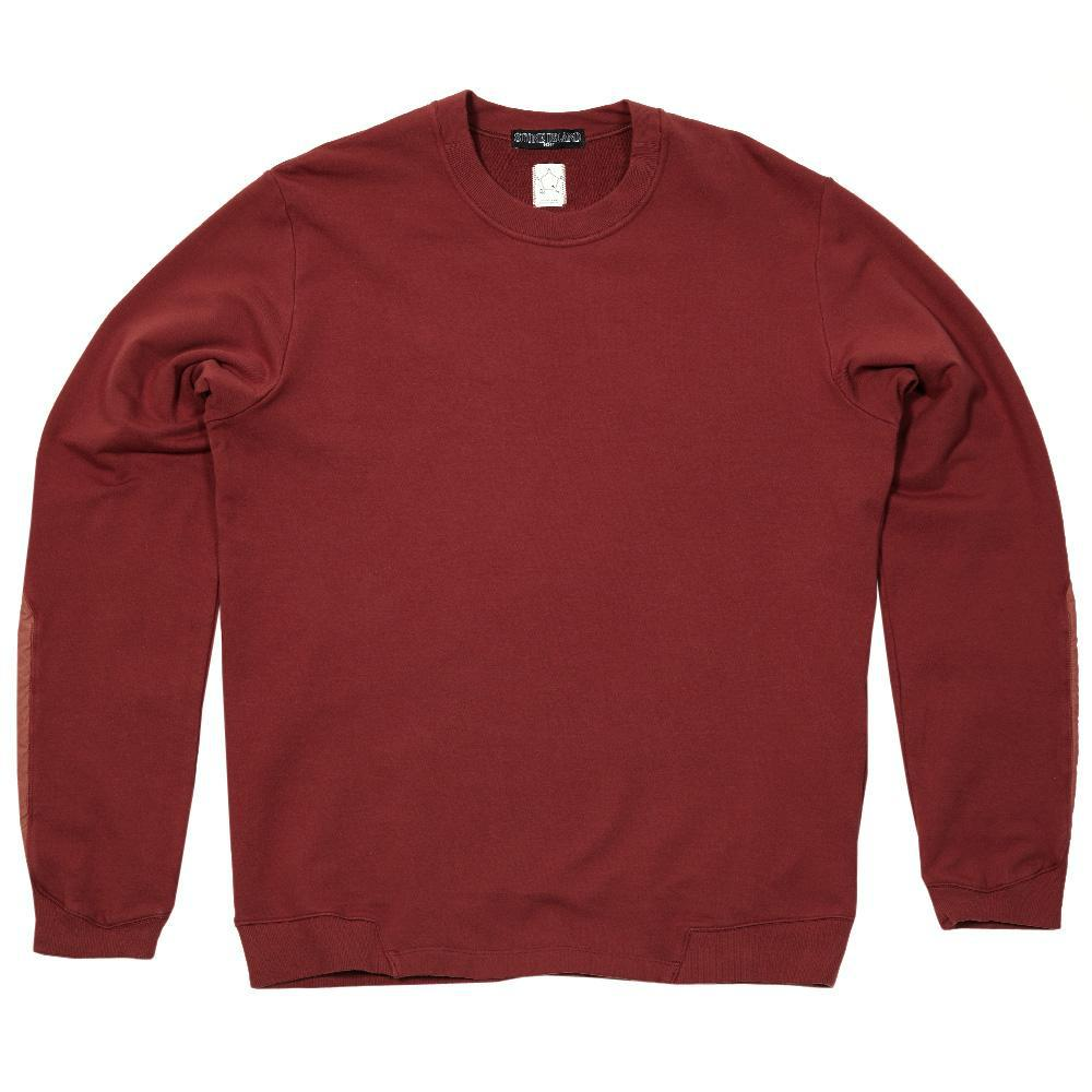 Stone Island Garment Dyed Fleece Crew In Red For Men Lyst
