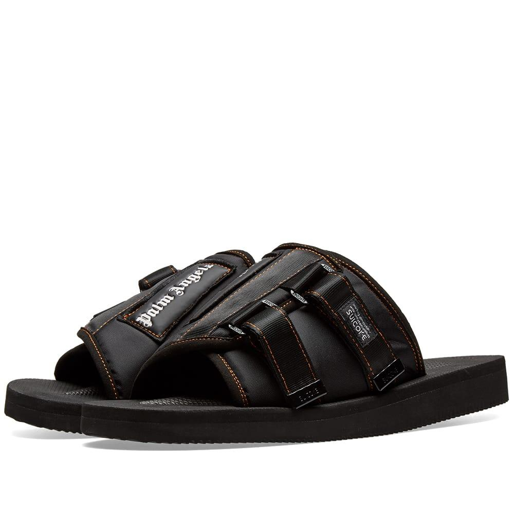 47ac37fa3e18 Lyst - Palm Angels X Suicoke Patch Slider in Black for Men