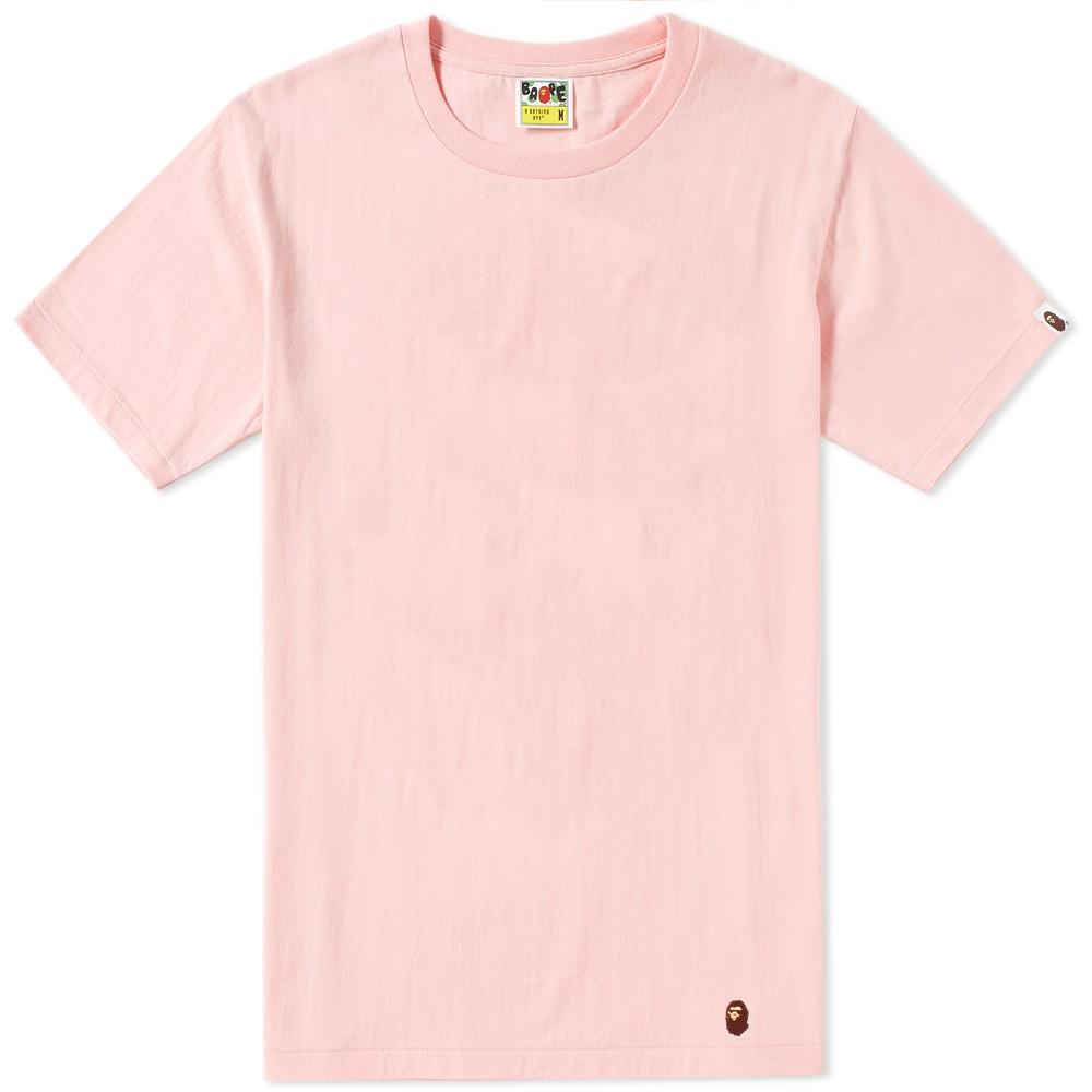 cc44d1980 Lyst - A Bathing Ape Bape Head Patch Tee in Pink for Men