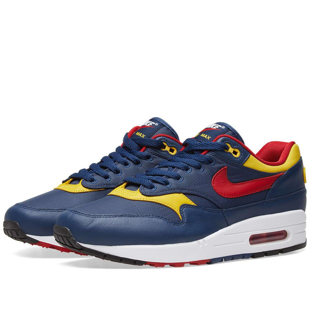 lyst nike air max 1 premium in blue for men. Black Bedroom Furniture Sets. Home Design Ideas