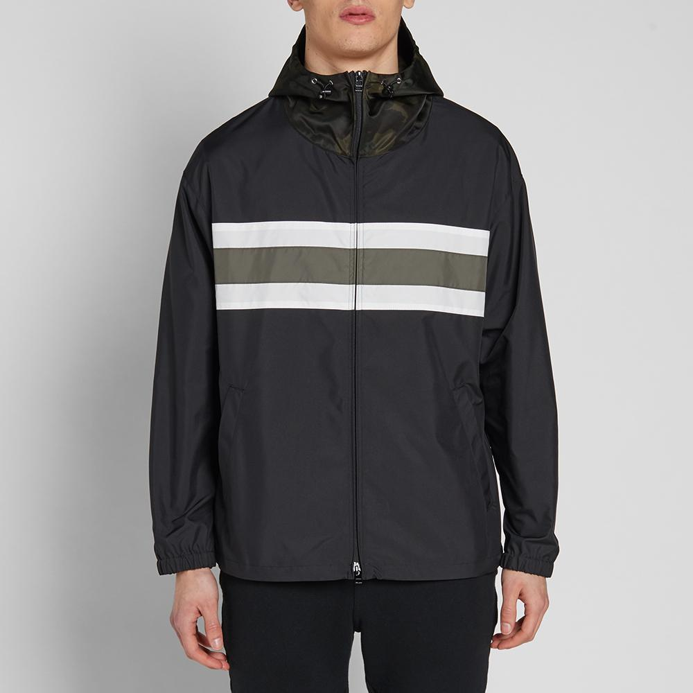 Sophnet Chest Line Zip Up Anorak In Black For Men
