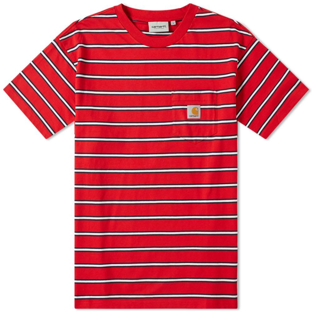 04f0fa5b645d Carhartt WIP Carhartt Houston Pocket Tee in Red for Men - Lyst