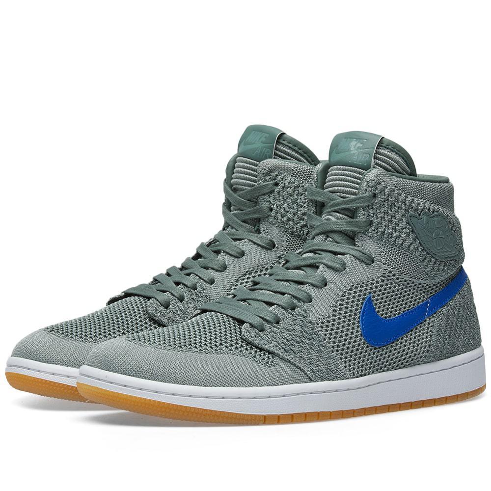 b3961e12 Nike Air Jordan 1 Retro High Flyknit in Gray for Men - Lyst