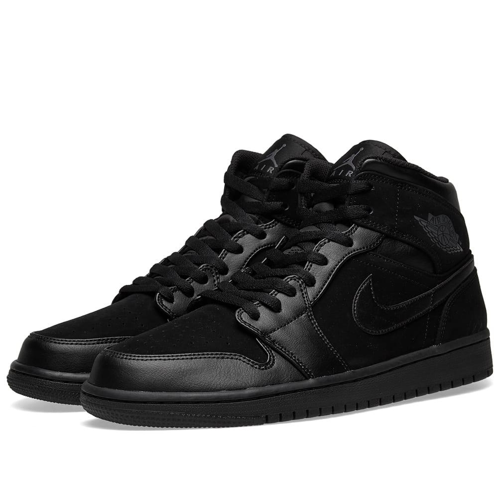 detailed pictures be345 9cf36 Nike - Black Air Jordan 1 Mid for Men - Lyst. View fullscreen