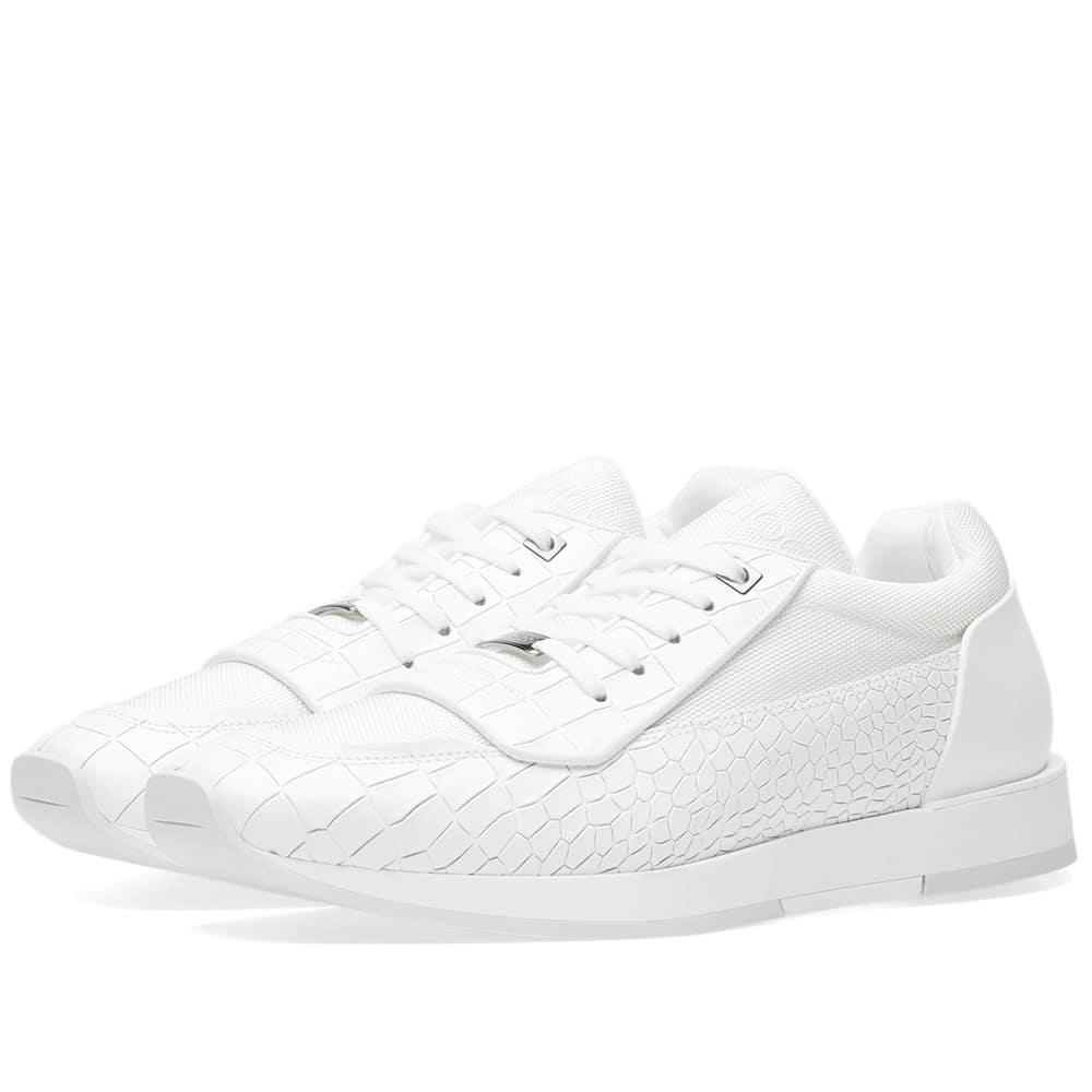 Jimmy Choo White Leather Jett Sneakers pXjRT7C