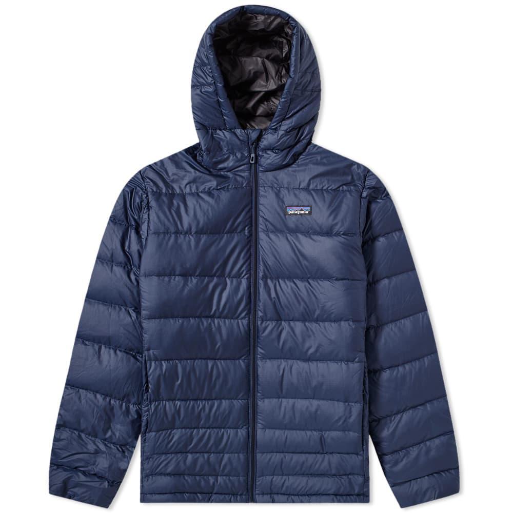 Patagonia Hi-loft Down Sweater Hoody In Blue For