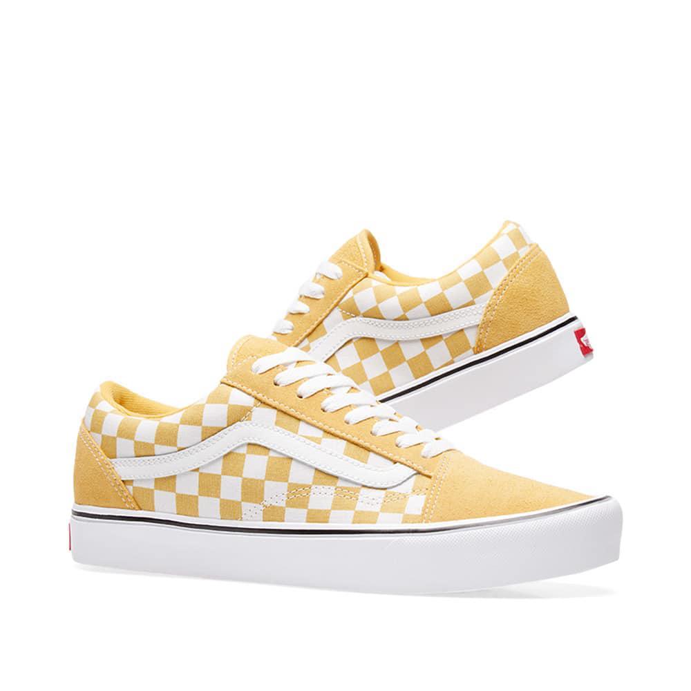 9def88f1478 Lyst - Vans Old Skool Lite Checkerboard in Yellow for Men