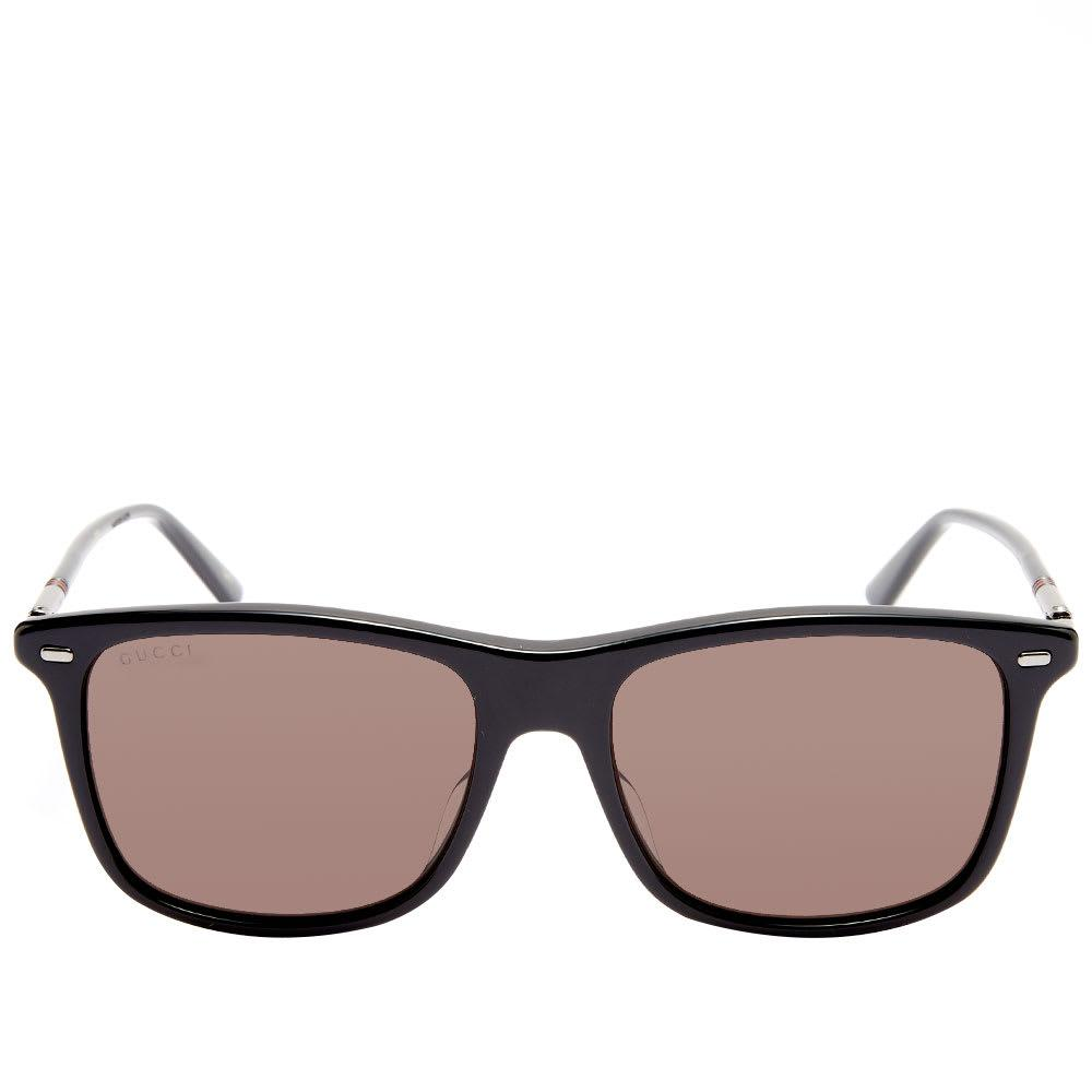 387ba0404 ... Gucci Cylindrical Web Square Frame Sunglasses for Men - Lyst. View  fullscreen