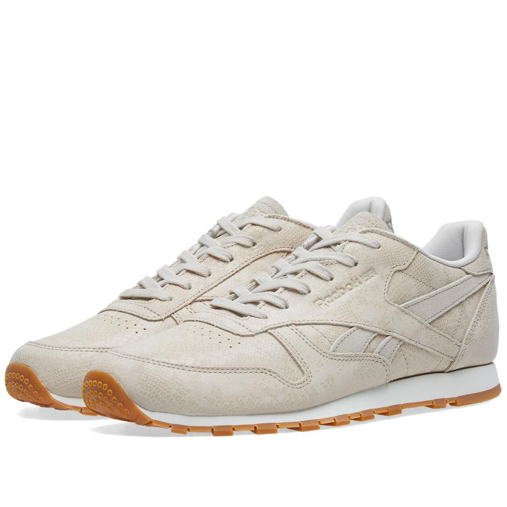Reebok Classic Leather  clean Exotics  W in White for Men - Lyst 104b183d2