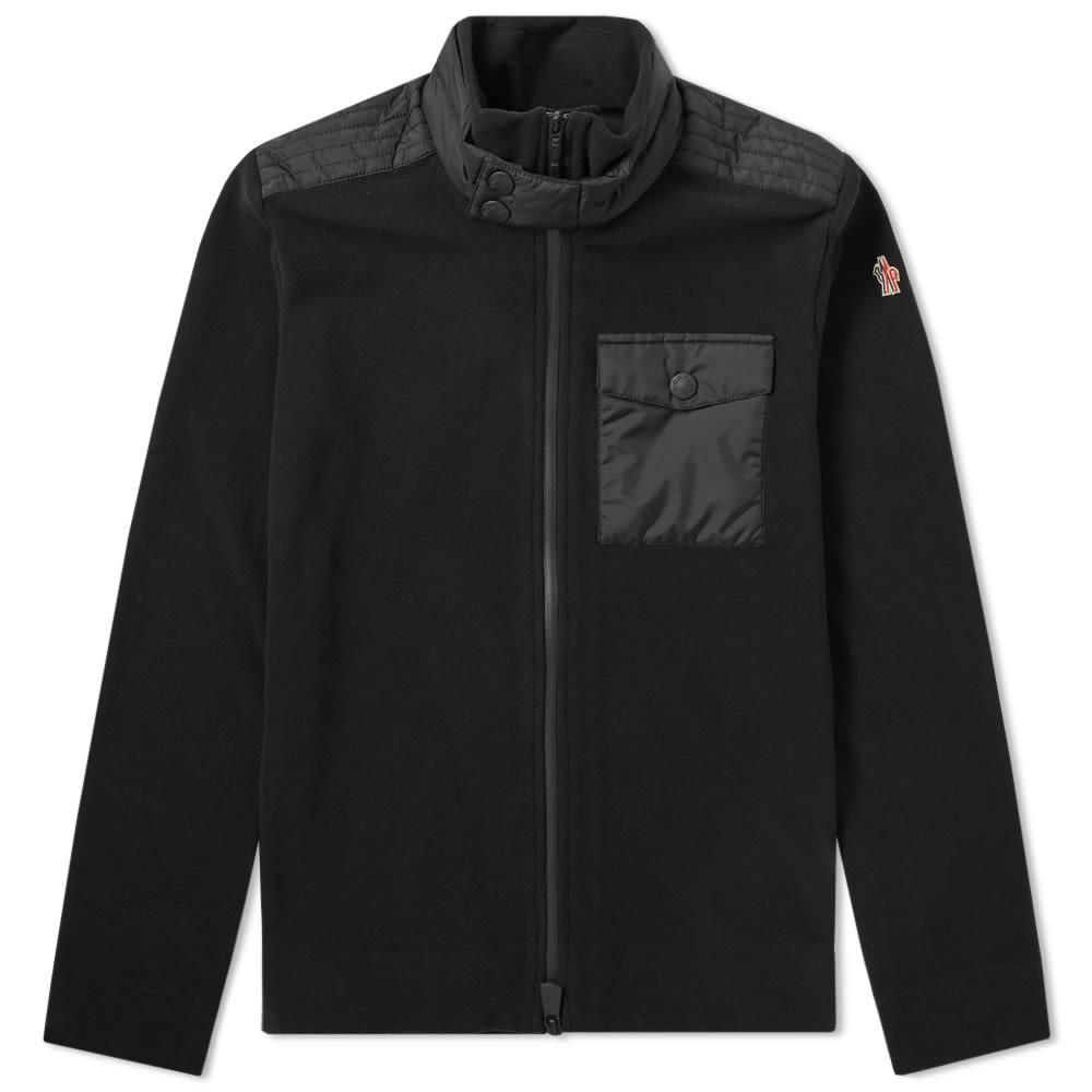 f3f78a467fd5 Lyst - Moncler Grenoble Fleece And Nylon Track Jacket in Black for Men