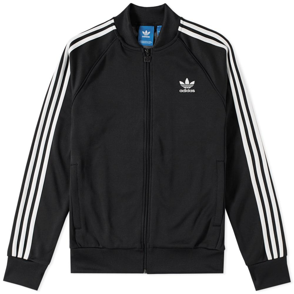 adidas superstar track top in black for men lyst. Black Bedroom Furniture Sets. Home Design Ideas