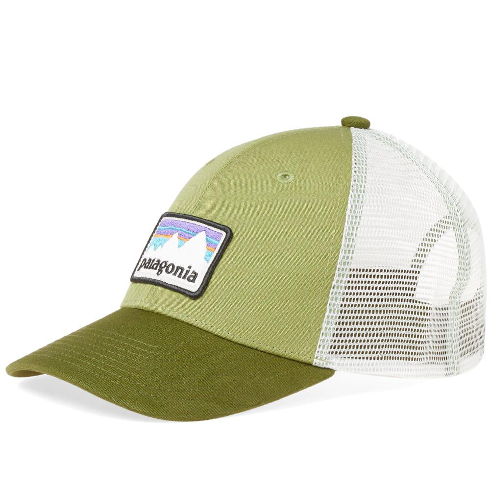 083fb98992ae1 Patagonia Shop Sticker Patch Trucker Cap in Green for Men - Lyst