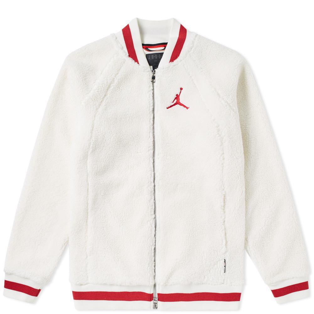 5bd4616d50f Nike Air Jordan Sportswear Aj 1 Fleece Jacket in White for Men - Lyst