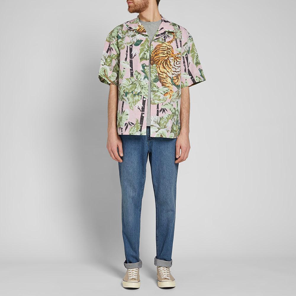 86dd5c6b4 KENZO Bamboo Tiger Hawaiian Shirt in Pink for Men - Lyst