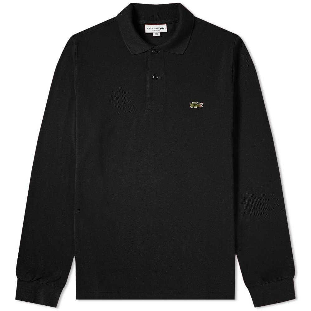 da7d5ce5 Lyst - Lacoste Long Sleeve Classic Pique Polo in Black for Men - Save 4%