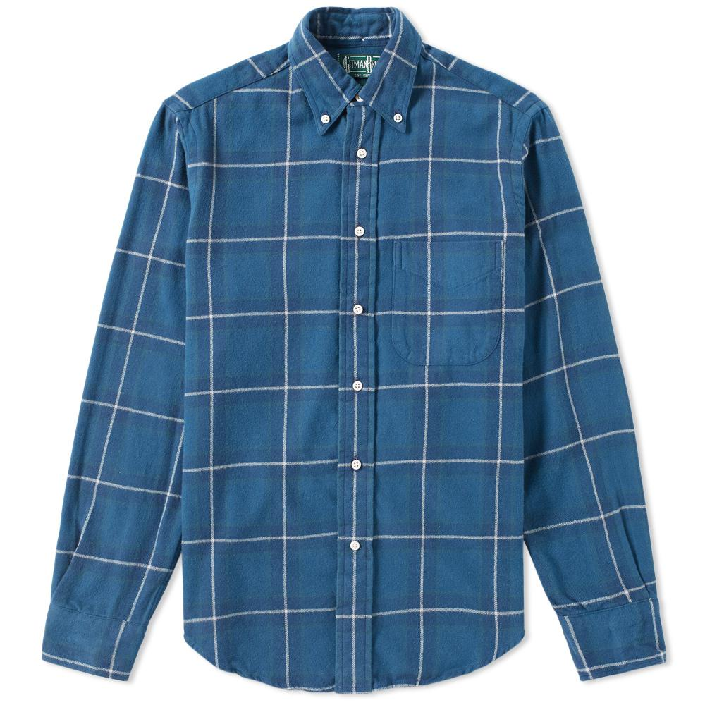 Lyst Gitman Brothers Vintage Plaid Hunting Shirt In Blue
