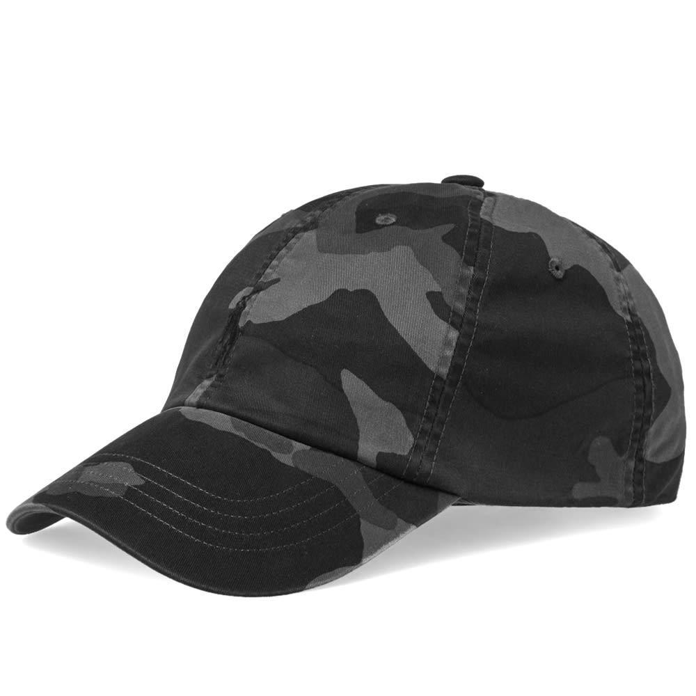 0ca5907977ced Polo Ralph Lauren Camo Baseball Cap in Black for Men - Lyst