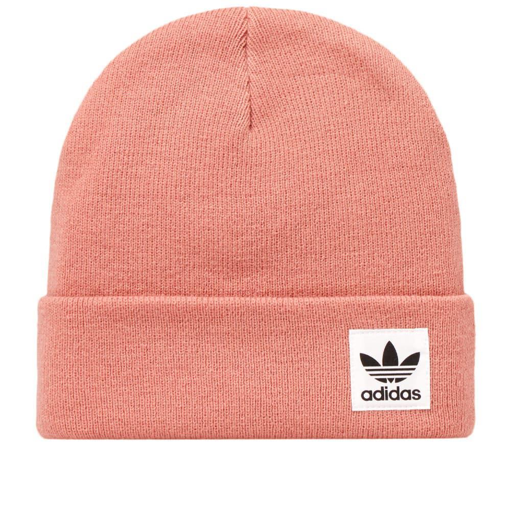 Lyst - Adidas Logo Beanie in Pink 4956fa12229
