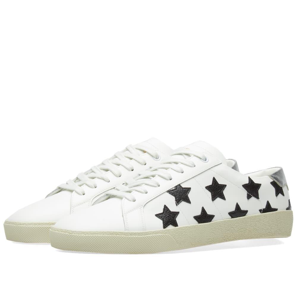949ab5f2360 Saint Laurent Sl06 California Star Lo Sneaker in White for Men ...