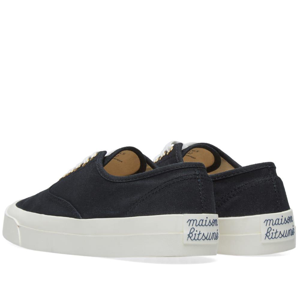 Canvas Slip-on Sneakers - BlackMaison Kitsuné Gc00p1xjP
