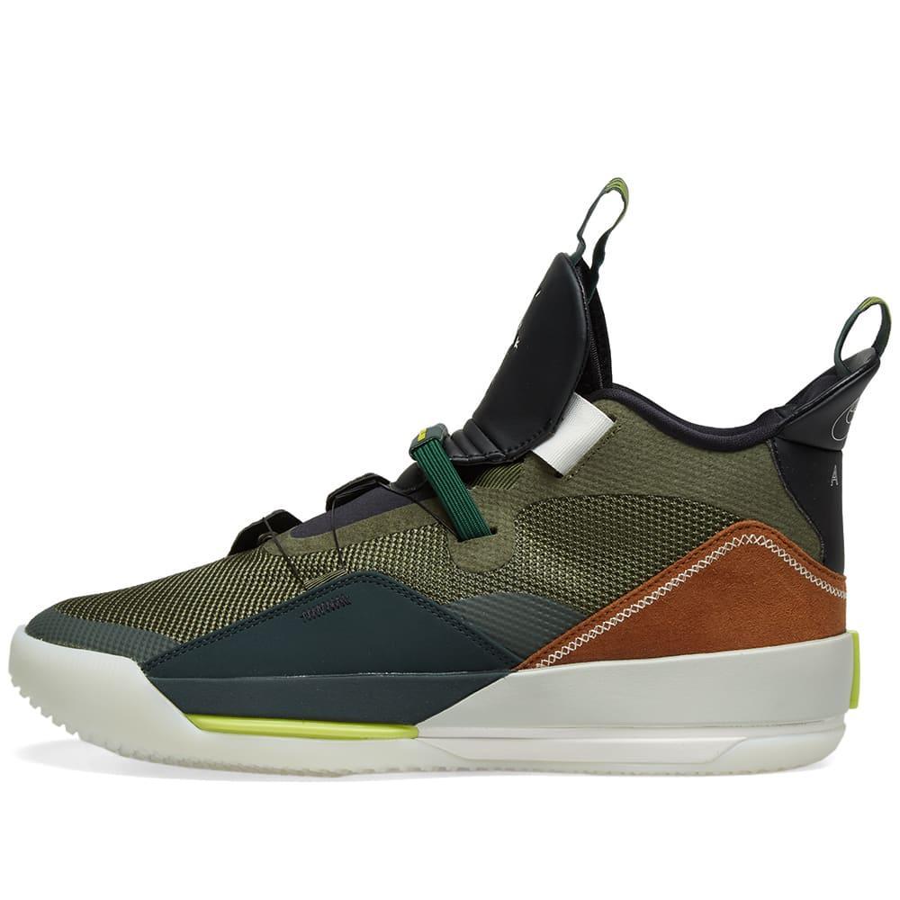 d942f136a11 Nike Travis Scott X Air Jordan Xxxiii in Green for Men - Lyst