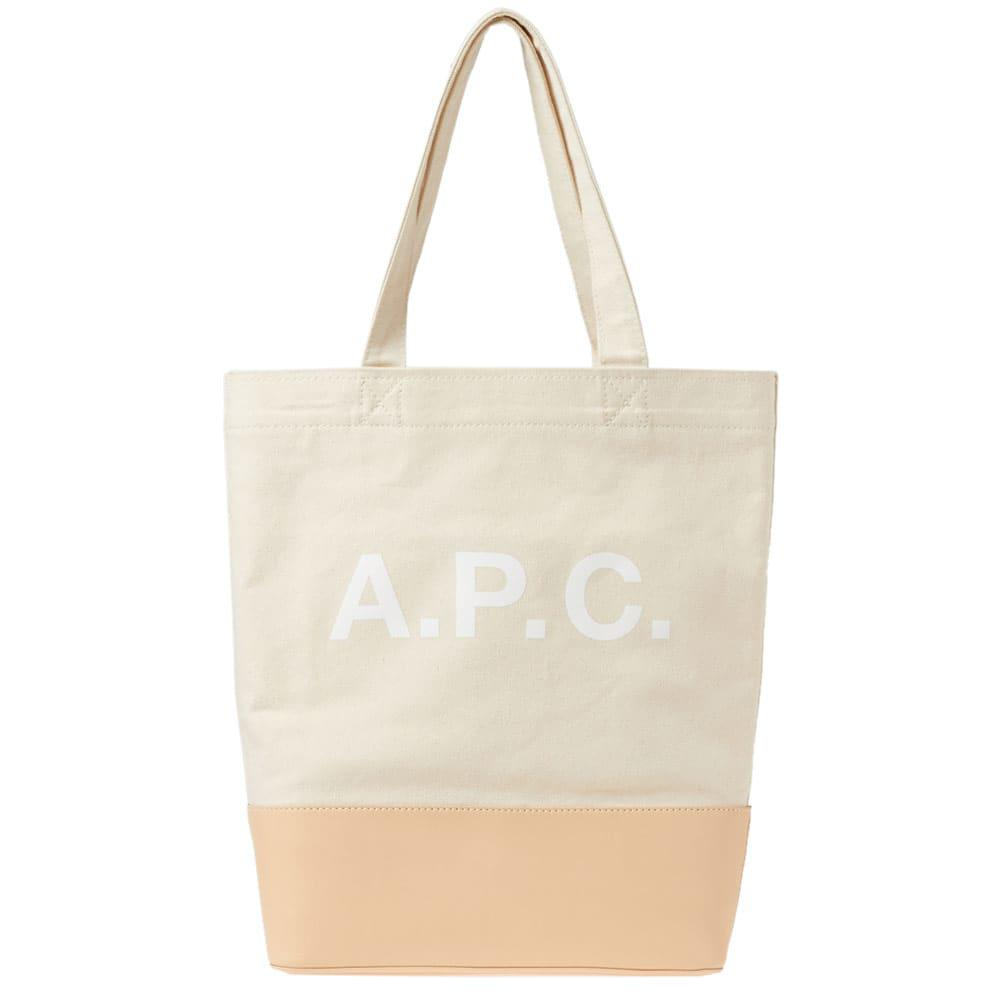 Axel Tote Bag in Dark Navy Canvas and Smooth Leather A.P.C. TvemPKt