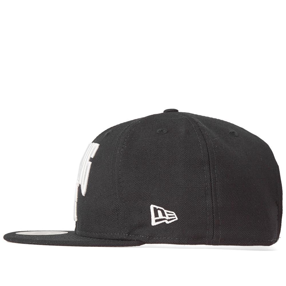9d3b86cfe76 Lyst - A Bathing Ape New Era Nyc Logo Snapback Cap in Black for Men