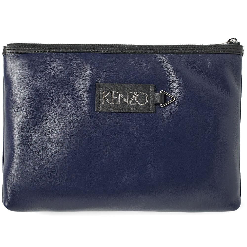 4af55ad5 Lyst - KENZO Zip A4 Pouch 'go Tigers!' in Blue for Men